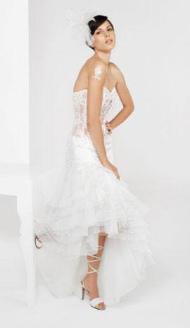 Vestido noiva com tecidos leves