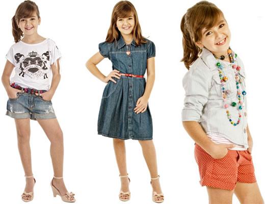 Moda Infantil - Shortinho Jeans