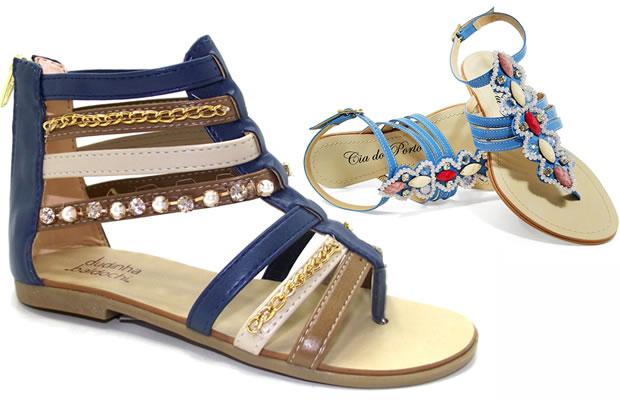 Sapatos para o Carnaval - Gladiador e Rasteirinhas