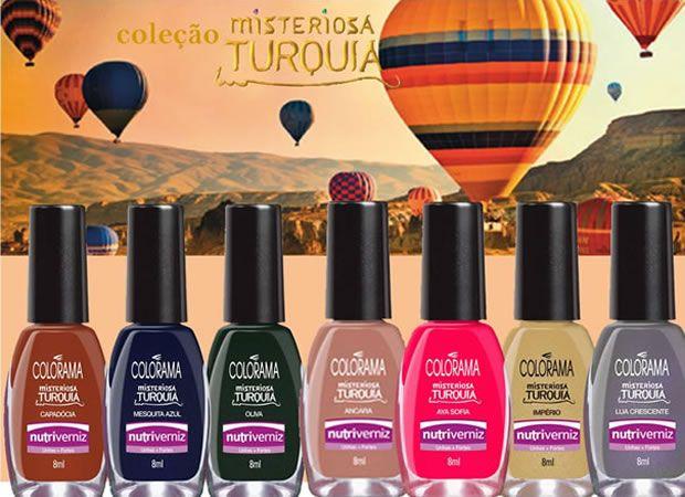 Venha até nossa loja e conheça a coleção de esmaltes Colorama Misteriosa Turquia!