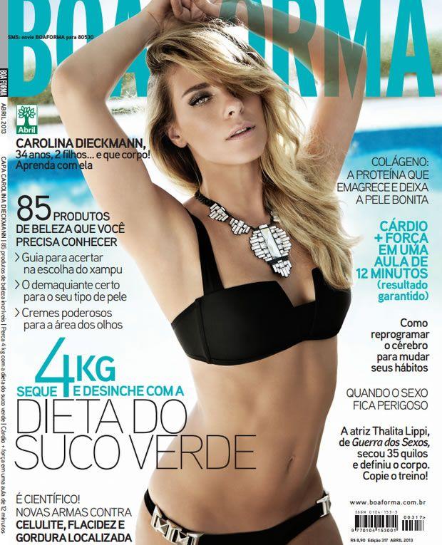 Carolina Dieckmann Capa da Revista Boa Forma