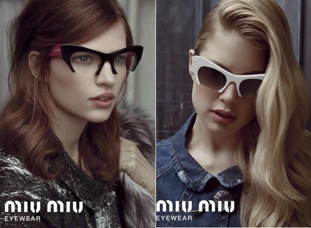 Coleção de Óculos Miu Miu