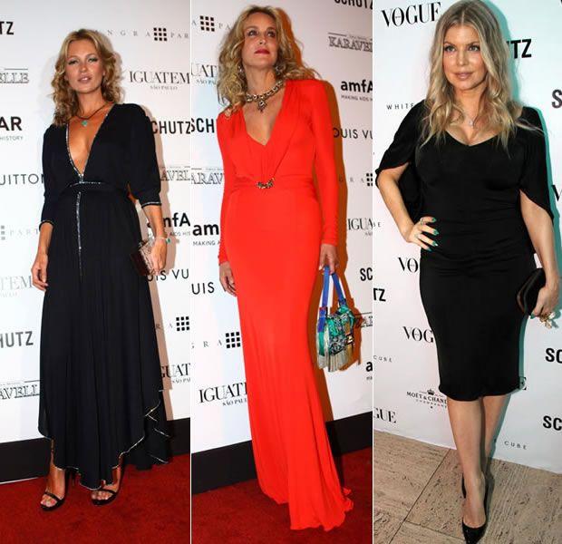Kate Moss, Sharon Stone e Fergie