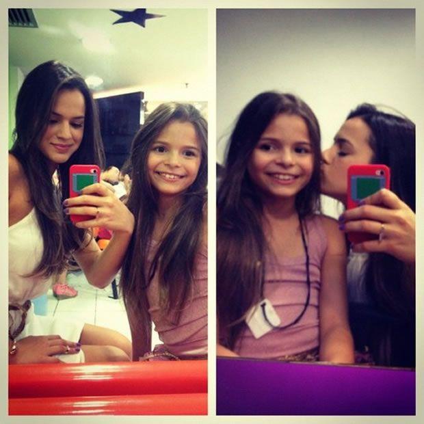 Luana Marquezine e sua irmã Bruna Marquezine