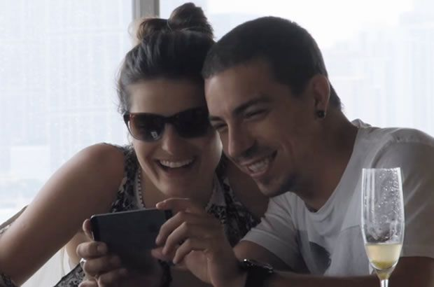 Isabelli e namorado