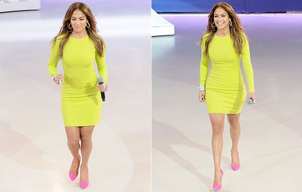 Jennifer Lopez Sapato Rosa