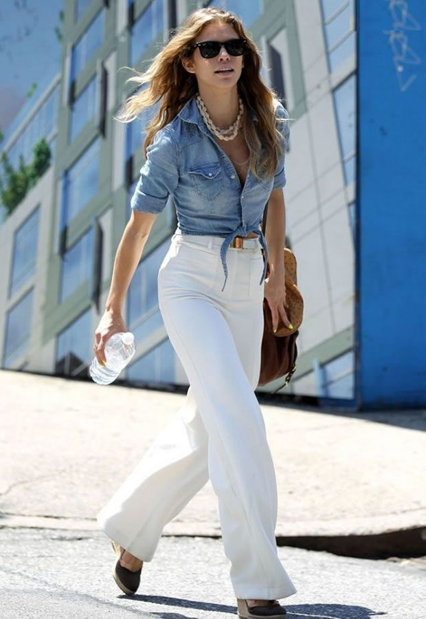 Look com Camisa Jeans