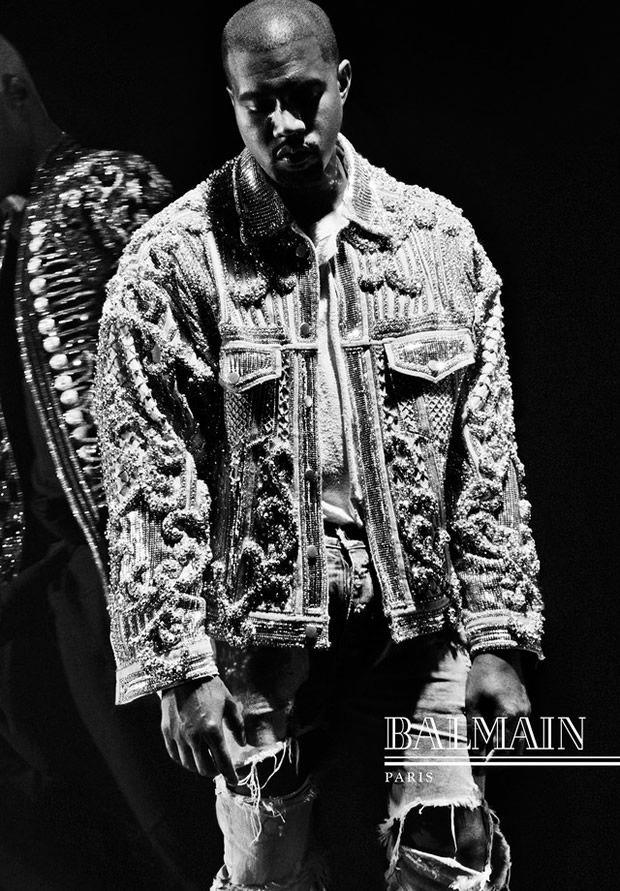 Kanye West para Campanha Balmain