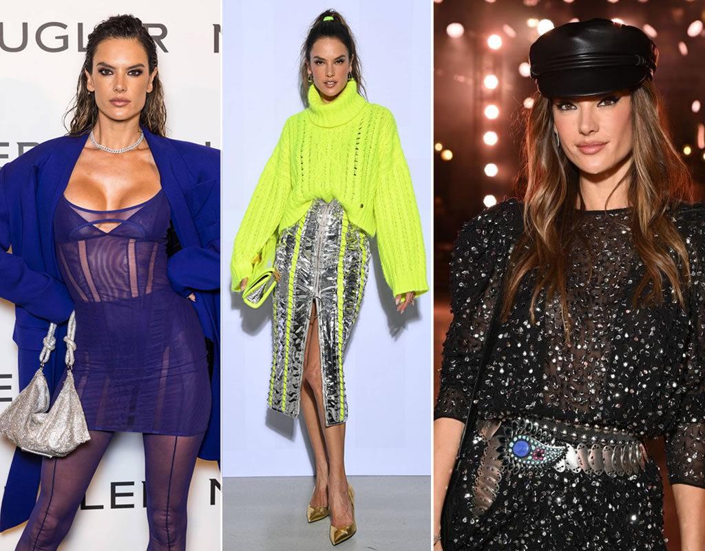 Alessandra Ambrósio na Paris Fashion Week